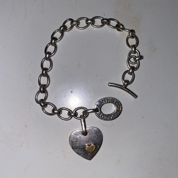 Link Jewelry S Of London Heart Charm Bracelet Poshmark